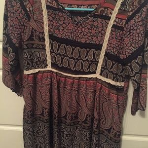 GIRLS YOUTH SIZE LARGE 3/4 SLEEVE TOP